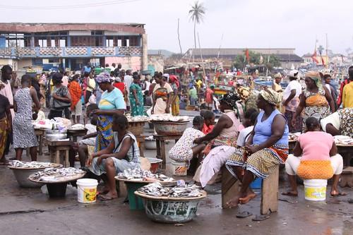 Elmina fish market...