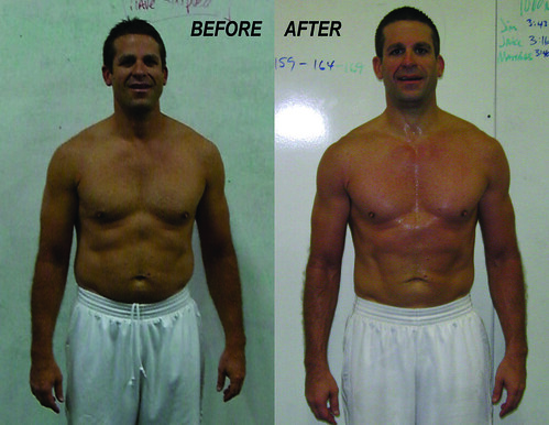 Jim's 8 week before and after comparison…nice work, sir! JIM_Before After