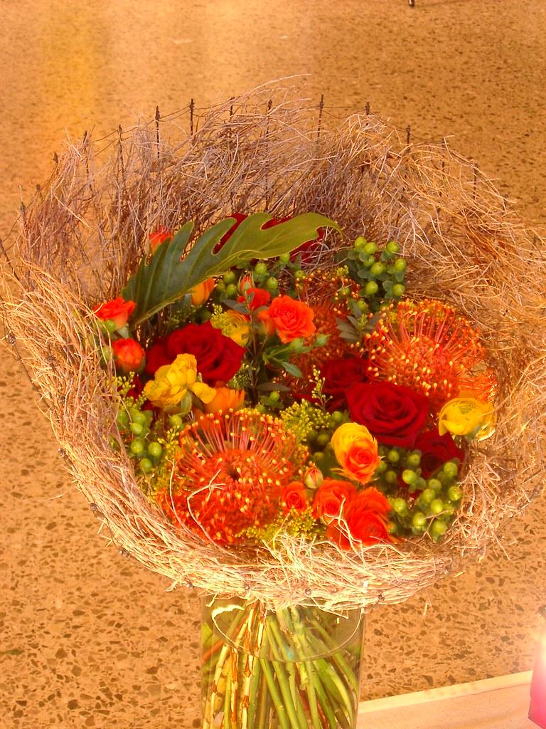 Ramo de flores-nido