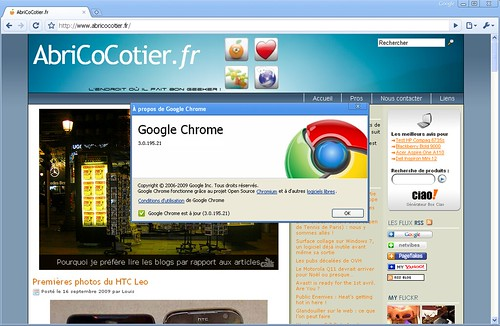 AbriCoCotier sur Google Chrome 3