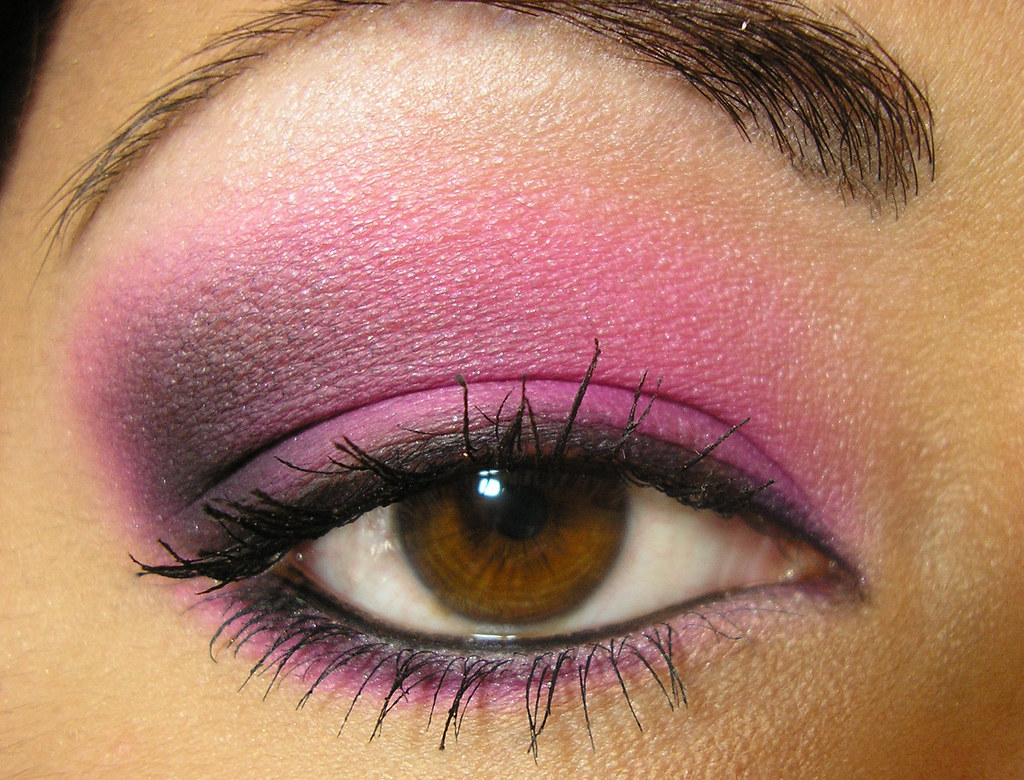 Hot Pink U0026 Black Smoky Eye | Frantastic Makeup