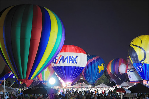 Great Forest Park Balloon Race, at Central Field in Forest Park, Saint Louis, Missouri, USA - Balloon Glow 7