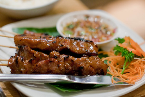Moo Ping (Thai grilled pork)