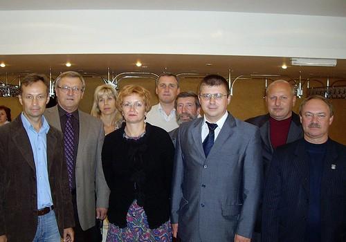Слева направо: А.Батальщиков,В.Калашнов,Н.Коврижных,Л.Сгибнева,С.Антипов,А.Казиков,А.Куров,С.Съедин,Ю.Бачурин