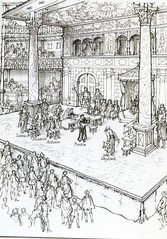 Merchant of Venice on the Globe Theatre Stage