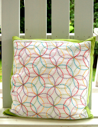 Colorful Crafting with Jen:  Rickie's Sashiko Pillow