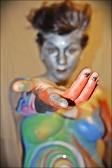 Elf. (B.e.D) Tags: girl hand paloma elf mendoza session bodypainting duende hdrish camuflash nicolsfeiner