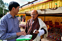Anthony & a representative from Bhutan's Ministry of Information & Communication