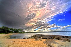 clouds (picsie14) Tags: sea summer sky beach clouds landscape interestingness amazing interesting escape australia wideangle pacificocean nsw stunning hdr jervisbay huskisson ultrawideangle bestphoto mostbeautiful 14mm nikond700