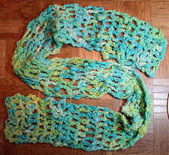 Blue-green scarf