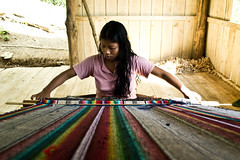 Weaving the color (~Age Of Loneliness~) Tags: nikon colorful tribal fabric weaver bangladesh bandarban loom garments handloom bawn d3100
