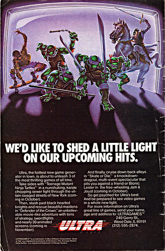 "ULTRA GAMES :: ""WE'D LIKE TO SHED A LITTLE LIGHT - ""  (( 1989 ))"