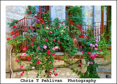 Balconies with Flowers in Mesta (CTPPIX.com) Tags: old trip travel summer vacation flower building architecture canon island greek eos town tour village balcony urlaub aegean hellas greece journey 7d gr ctp excursion 2010 chios griekenland griek hios hellenic greekisland dailytrip xios sakiz medievalvillage mesta grek khios christpehlivan ctppix sakizadasi xioy kanaristour northchiostour