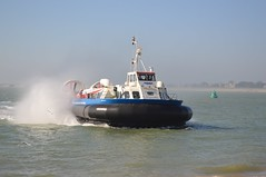 Hovertravel (PD3.) Tags: uk travel england ferry boats boat ship harbour ships craft hampshire wightlink solent portsmouth isle ferries wight southsea hover hovercraft iow ryde hants hovertravel