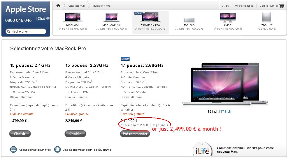 Apple.com Pricing Error | MacBook Pro</ins>