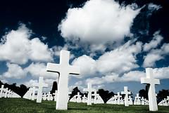 [フリー画像] [戦争写真] [十字架] [墓地] [戦死者墓地]       [フリー素材]