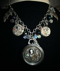 Something Special (charlattecreations) Tags: vintage necklace texas watches recycled antique gothic victorian jewelry romantic pendant repurposed steampunk shabbychic pocketwatches