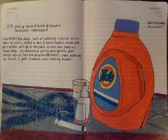 01-11/12-09 (lauraloustwiddling) Tags: moleskine tide laundry medicine leash