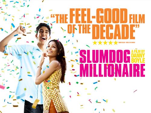 Dev Patel, Freida Pinto Slumdog Millionaire stars - wallpaper