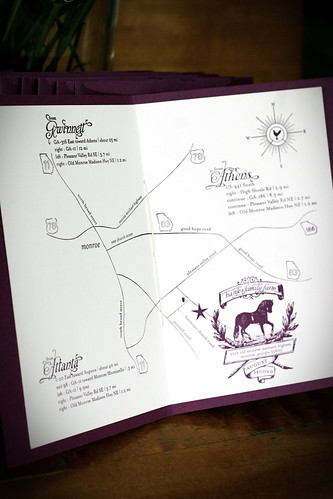 Invitation Booklet  | Interior, Map