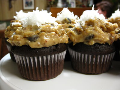 Best German Chocolate Cupcakes