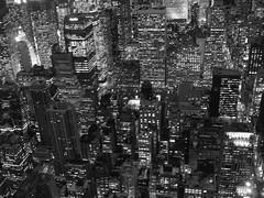(pbyi) Tags: new york city nyc windows urban white black night skyscraper concrete lights manhattan