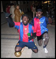 Ronaldinho y Eto´o (© Marco Antonio Soler ) Tags: barcelona sports ronaldinho etoo jose fiestas paco futbol barça festes fcb alacant retreta jijona xixona beduinos geladors