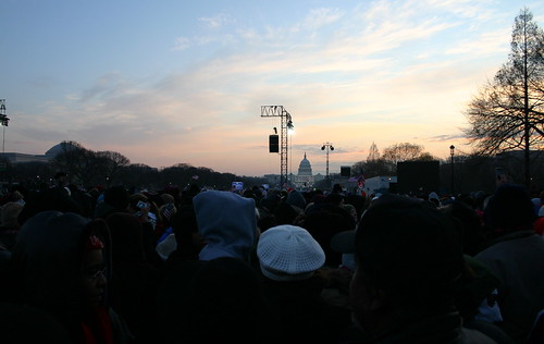 Early AM Sky from Obama Inauguration from National Mall