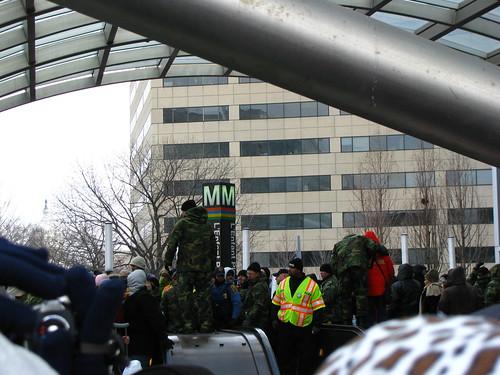 Metro crowd control