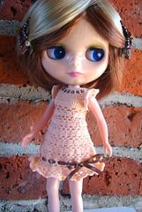 perla´s peach pale dress