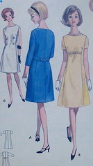 Vintage Butterick Pattern 4076 A- Line Dress Size 14 Bust 34 Wasit 26 Hip 36 (Sassy By Design) Tags: she vintage flickr pattern sewing international cast etsy jackieo alinedress bust34 sassybydesign butterick4076 siae14
