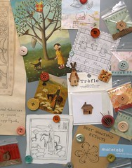 Idea & Inspiration Board (PatchworkPottery) Tags: inspiration idea buttons board magnets craftroom