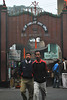 Entrance at Kalyaneshwari Temple (Anindya Banerjee) Tags: near twoguys westbengal durgapur andal placeofprayer asansol bardhaman burdwan raniganj weekendtour mithon maakali placeofgod mithontour kalyaneswari sitarampur bathanbari kajora orangemerigold shrishrikalyaneshwarimandir