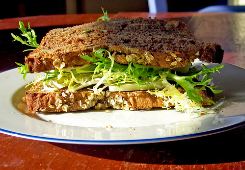 walnut bread sandwich