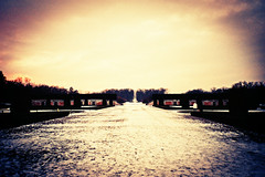Drottningholm Gardens (Cormac Phelan) Tags: winter film gardens 35mm lomo lca xpro lomography sweden stockholm lka perspective january palace velvia distance vignette phelan cormac drottningholm