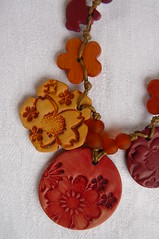 Terre de feu (dtail 1) (chabronico) Tags: de necklace handmade jewelry polymerclay fimo