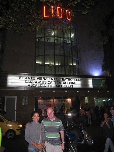 Outside Teatro Lido with Jesusa