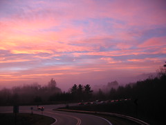 driving into a new day ... (october blue ( on/off )) Tags: holidaysvacanzeurlaub