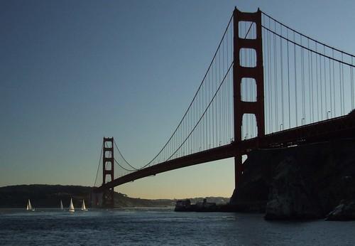 Twilight In Golden Gate As Seen From Fort Baker