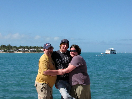 Bill, Dustin and I on the boardwalk at Mallory Square.
