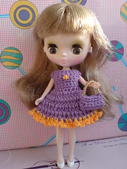Petite Blythe Crochet Dress Colour Expression purple/orange