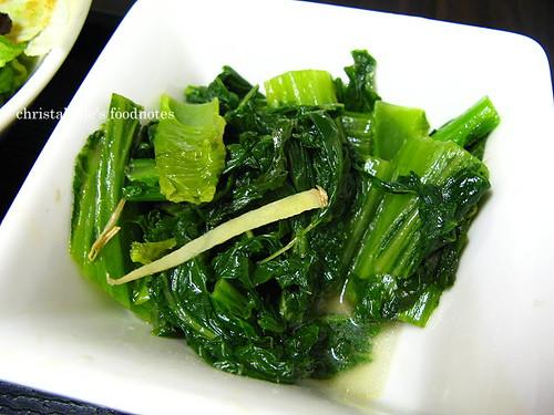 慶城街日式路邊攤定食青菜