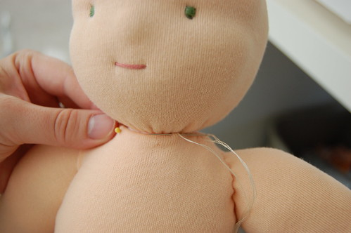 sewing on the body