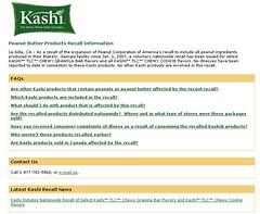Kashi recall a sign of a class brand