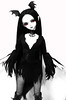 Tulip in a Batty costume (plumaluna07@sbcglobal.net) Tags: dolls vampire ooak gothic spookychicks