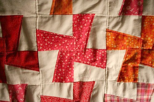 Cartwheel quilt close-up