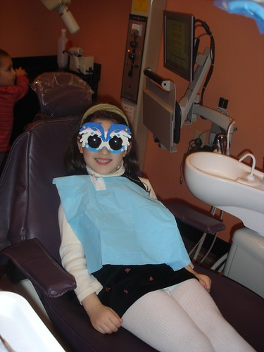 Corinne at the dentist