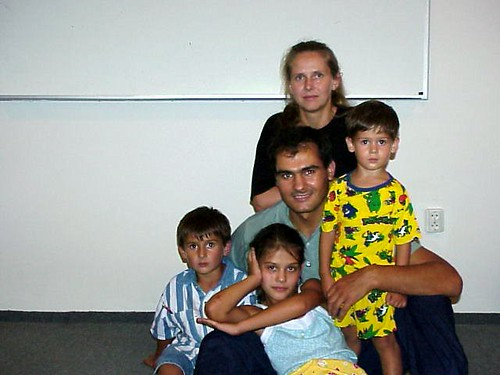 Familia Filat când erau copiii mici