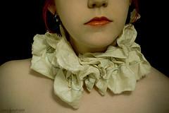 Tattered Scrap Neck Ruffle (exoskeletoncabaret) Tags: scarf antique collar rag ruff frayed steampunk neckwarmer muslin tatters vintagepunk