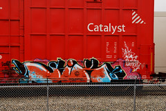 Six on Catalyst (All Seeing) Tags: graffiti mink sry catalyst demos allseeing sixr outlawnation